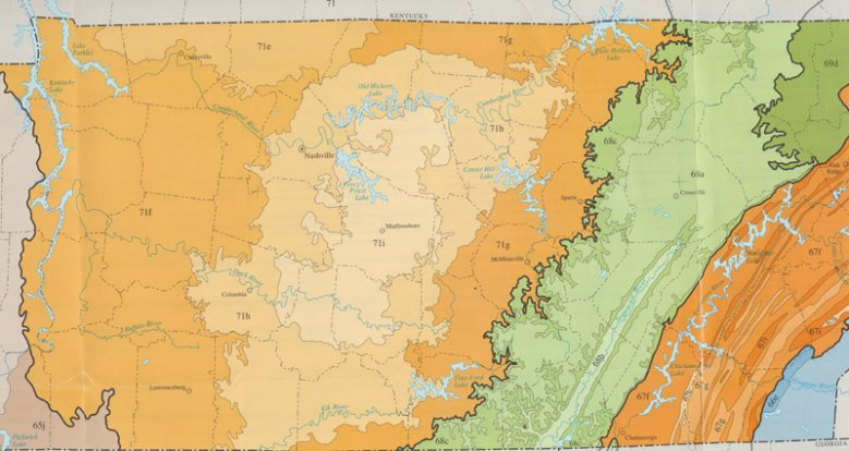 The Highland Rim and the Nashville Basin